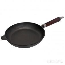Сковорода чугунная с деревянной ручкой CIF22-W, диам - 22 см