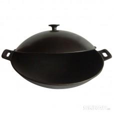 Сковорода ВОК  чугунная W-31L, диам - 31 см, с металлической крышкой