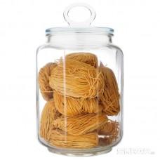 Стеклянная банка для сыпучих продуктов с фигурной стекл крышкой, Coppetta, объем: 1,8 л, тм Mallony