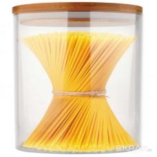 Стеклянная банка для сыпучих продуктов с крышкой BAMBU, объем: 0,45 л, тм Mallony