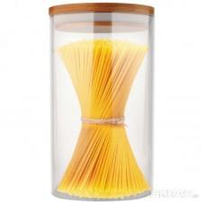 Стеклянная банка для сыпучих продуктов с крышкой BAMBU, объем: 0,6 л, тм Mallony