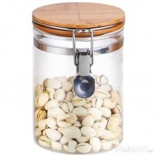 Стеклянная банка для сыпучих продуктов с крышкой CORONA, объем: 0,8 л, тм Mallony