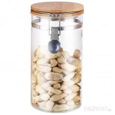 Стеклянная банка для сыпучих продуктов с крышкой CORONA, объем: 1 л, тм Mallony