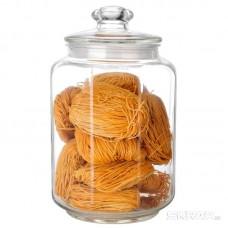 Стеклянная банка для сыпучих продуктов с крышкой LATTINA, объем: 3 л, тм Mallony