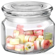 Стеклянная банка для сыпучих продуктов со стекл плоской крышкой, ARIA, объем: 0,3 л, тм Mallony