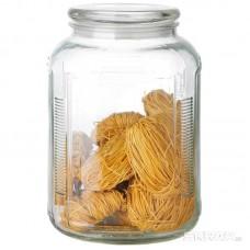 Стеклянная банка для сыпучих продуктов со стекл плоской крышкой, ARIA, объем: 3,3 л, тм Mallony