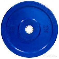 Бамперный диск для штанги 10кг. (цветной)