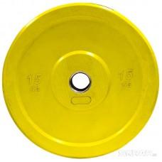 Бамперный диск для штанги 15кг. (цветной)