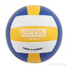 Мяч волейбольный ECOS MOTION VB103 (№5, 3-цвет., машин.сшивка, ПВХ)
