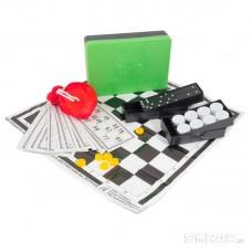 Набор 3 в 1 АСТРОН лото, шашки, домино