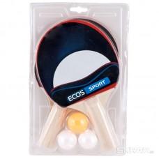 Набор для игры в пинг-понг PPSet-01, (2 ракетки +  3 мячика), Упаковка: блистер