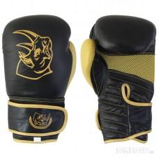 Перчатки боксерские BG-2574BLGLD-10, 10 унций, Кожа, цвет: черный с золотом