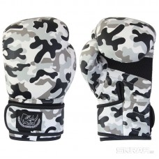 Перчатки боксерские детские BG-2574CAMO-8, 8 унций, Кожа, цвет: Камуфляж