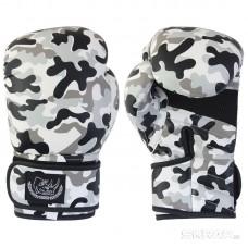 Перчатки боксерские детские из кожи BG-2574R - 08 camo, 8 унций, Сумка, цвет: Камуфляж