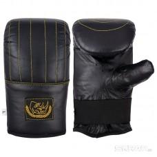 Перчатки тренировочные BG-861L (кожа, размер L, цвет черный)