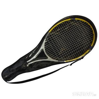 Ракетка для игры в теннис  TR-02  (1 шт в чехле), Алюминий, 67,5*26,5 см