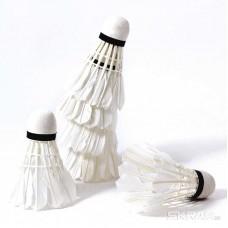 Воланы (набор из 6 шт) BadVol-6T, Материал:  натуральное  перо,  Упаковка:  ПВХ цилиндр