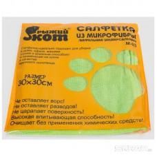 Салфетка из микрофибры M-03 вафельная, цвет: зеленый, размер: 30*30 см