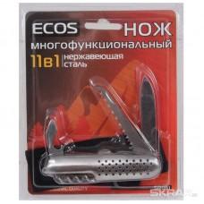 Нож многофункциональный ECOS, SR061, 11 в 1 серебристый