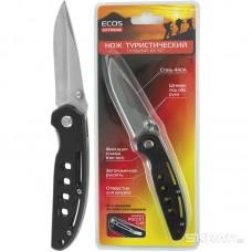 Нож туристический складной EX-137 ECOS  черный