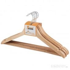 Набор вешалок деревянных W2-P-NS/6 (эконом) (дерево лакир., 6 шт) аналог 311327